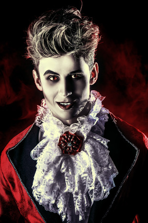 male costume: Bewitching handsome male vampire. Halloween. Dracula costume.