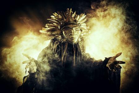 metaphorical: Metaphorical idea of the sun. Folklore. Paganism, worship of the sun. Stock Photo