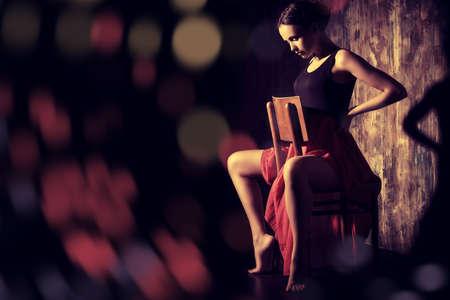 Art portrait of a beautiful Spanish girl. Latin dances. Stock Photo