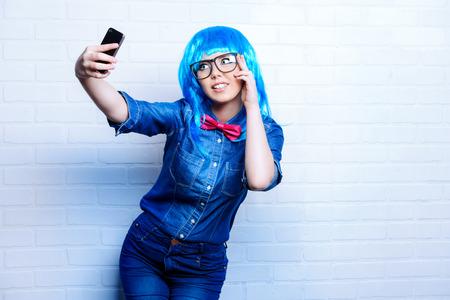 cute teen girl: Selfie. Довольно подростков девочка, фотографировал ее сам. Красота, мода.