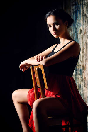 sensuous: Art portrait of a beautiful Spanish girl. Latin dances. Stock Photo