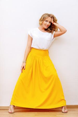 full length portrait: Full length portrait of a beautiful modern woman. Fashion shot.