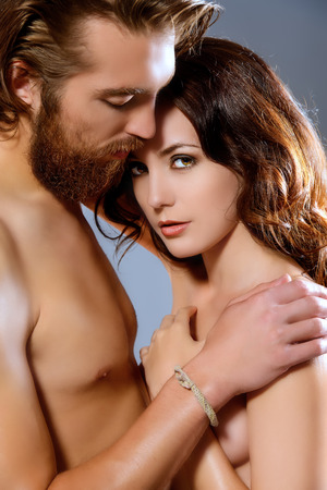 passionate lovers: Portrait of a beautiful passionate lovers