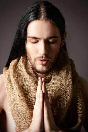 jesus: Portrait of Jesus Christ of Nazareth. Stock Photo