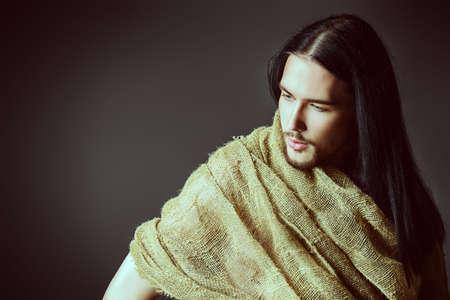nazareth: Portrait of Jesus Christ of Nazareth. Stock Photo