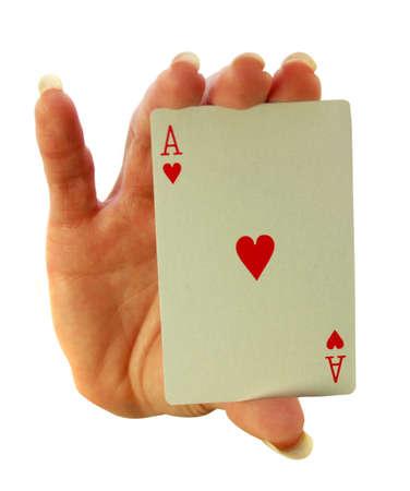 risky love: Lady esercita la Asso di cuori nel suo palmo