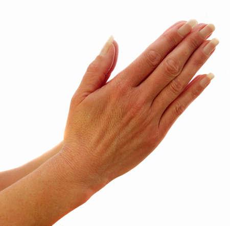 Handen te bidden voor iets nodig van God