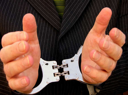 His hands are tied or locked together Stock Photo - 862859