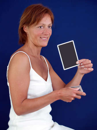 Lady telling your fortune with tarot cards         photo