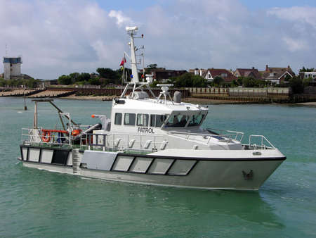 naval: Protecting our shores a Naval patrol boat