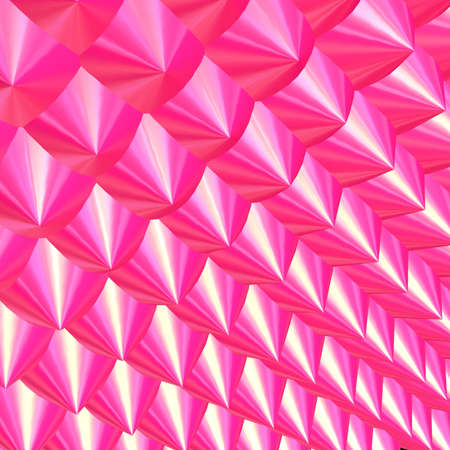 prick: 3D - Pink chrome prick pattern Stock Photo