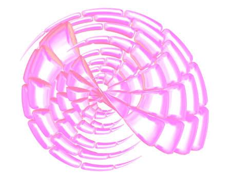 nacre: 3D - Beautiful nacre sea shell on white