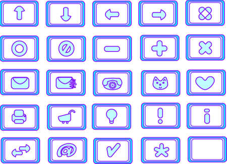 useful: Collection of 25 different useful icons (light blue theme)