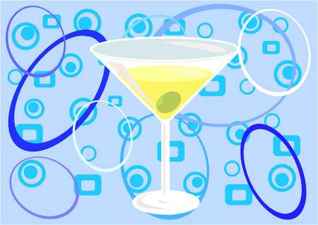 """distilled: """"Martini tempo!"""" (blu)  Archivio Fotografico"""
