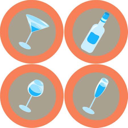 Alcohol icons 3 photo