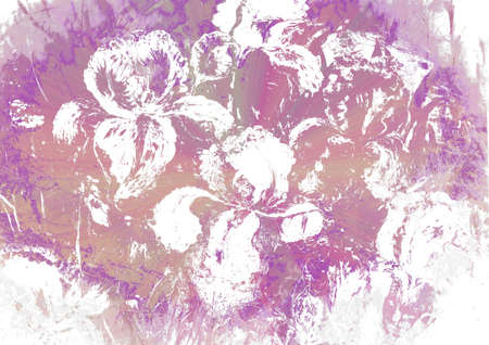 heartbroken: Grunge background with Iris flowers