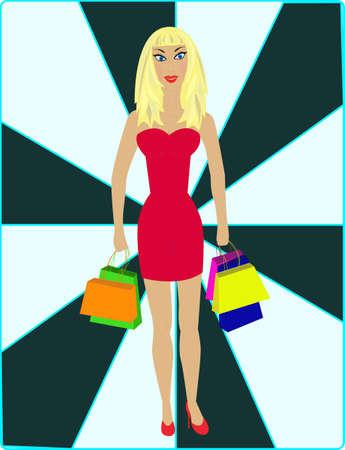 heals: Sexy blond - shopping