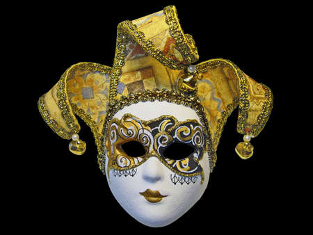 conceal: Beautifull venetian mask isolated on black