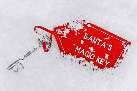 key fob: Santas dropped his magic key in the snow.