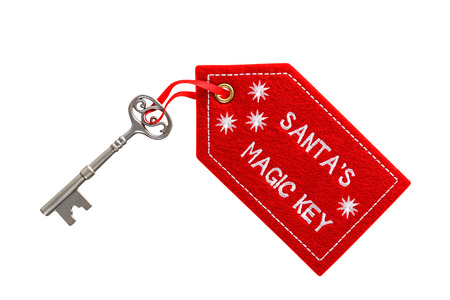 key fob: Santas magic key isolated on a white