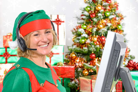 headquaters: A member of the Elf customer support team ready to take your call at the North Pole.