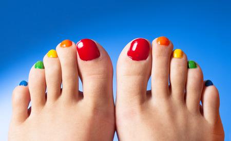 toe: Nail art polish