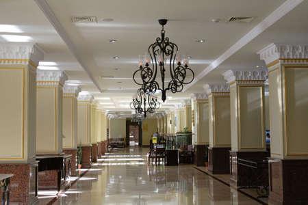 A hallway in an hotel, Tashkent, Uzbekistan. Stock Photo