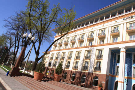 Elevation of hotel with balconies, Tashkent, Uzbekistan photo