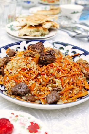 tajikistan: Pilau - the basic dish in republic Tajikistan