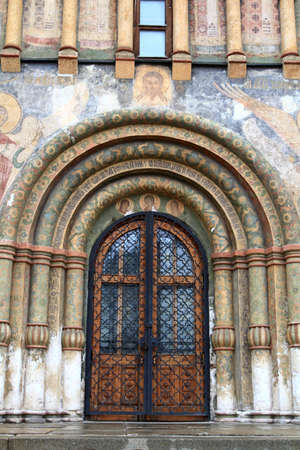 Gate of Orthodox Church in Kremlin, Russia photo