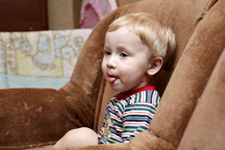 The small boy put out one's tongue Stock Photo - 1479992