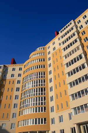 The orange monolith new-built on the sky background Stock Photo - 2523500