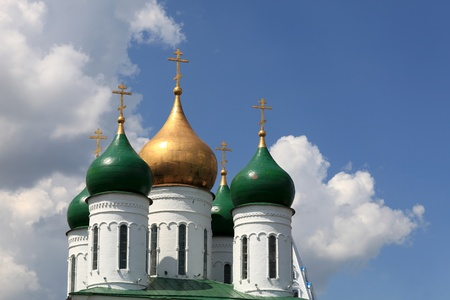 Dome of cathedral of the Asccension in the Kolomna Kremlin, Russia photo