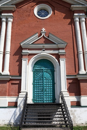exaltation: Door of exaltation of the Cross cathedral in Brusensky monastery, Kolomna Kremlin, Russia