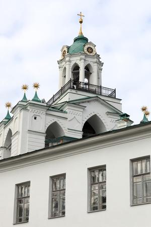 spassky: Top of spassky monastery belfry in Yaroslavl, Russia