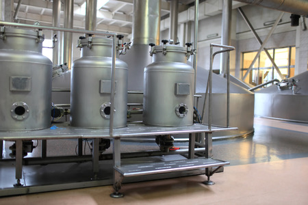 boiling tube: The equipment of a modern empty brewery