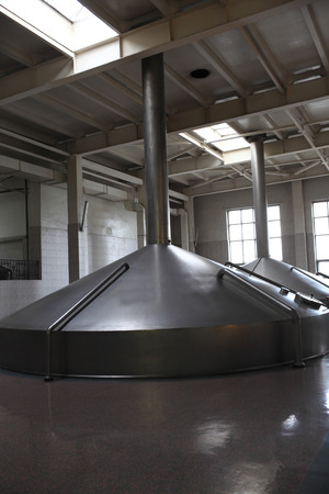 View of fermentation tanks of a modern brewery photo