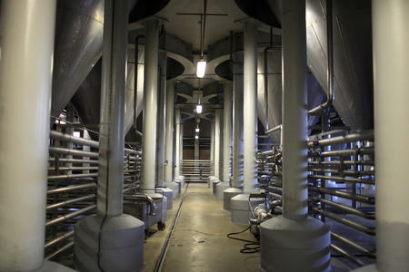 fermentation: The fermentation department of a modern brewery