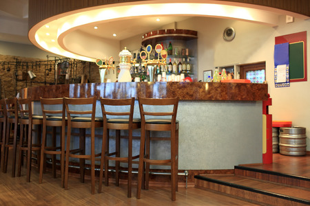 View of modern bar in a hotel