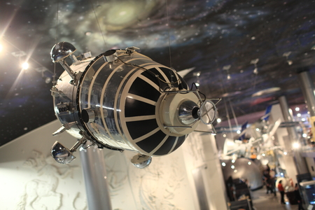 artificial satellite: Model of the first artificial satellite of the Moon luna 10 Editorial