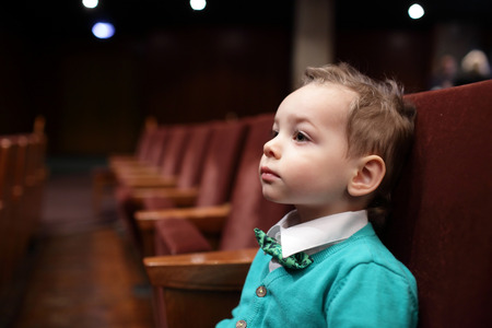 Portrait of a boy on the concert photo
