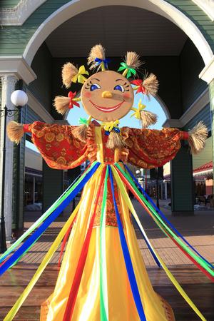 maslenitsa: Shrovetide doll on the russian holiday maslenitsa Editorial