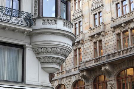 corner house: The corner house in Prague, Czech republic