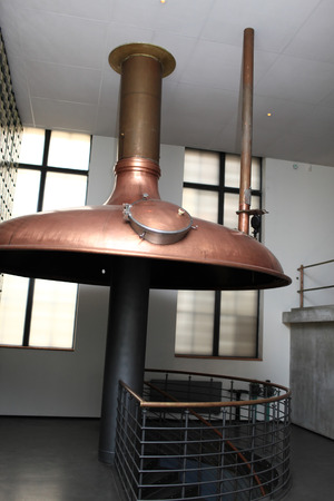 Interior of the old brewery in Prague photo