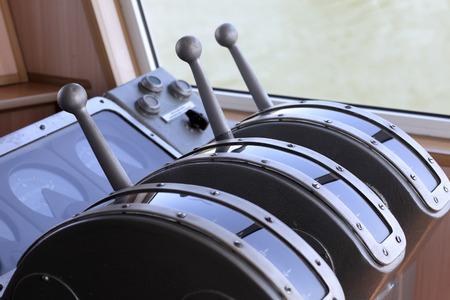 wheelhouse: Details of equipment in the wheelhouse of the ship