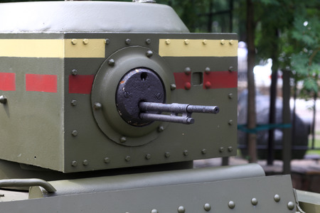 militarily: The turret of the old russian tank T-38
