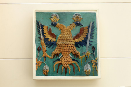 Details of the coat of arms, Moscow, Russia