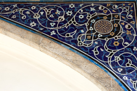 architectural feature: Part of arch of arabic palace in Istanbul Editorial