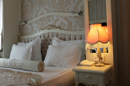 nice accommodations: View of the lamp in a bedroom