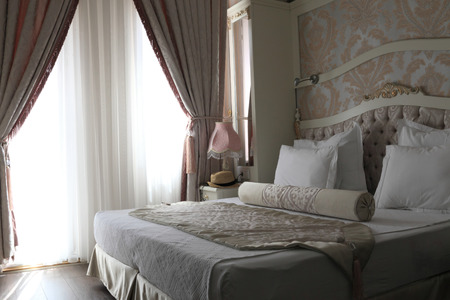nice accommodations: Details of double bed in the hotel